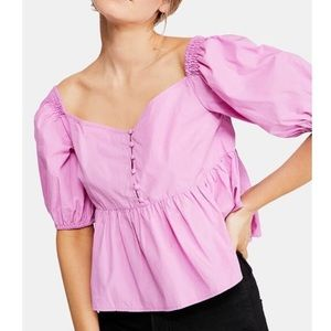Free People Veronica Sweetheart Off Shoulder Top